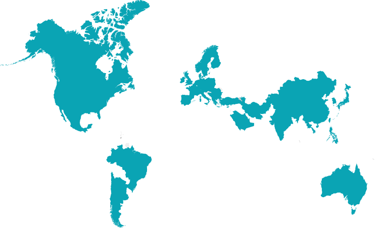 Map of countries distributed to